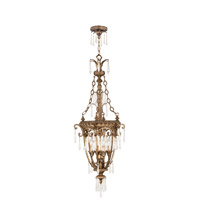 Livex 8808-65 La Bella 4 Light 18 inch Vintage Gold Leaf Foyer Pendant Ceiling Light photo thumbnail