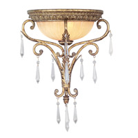 Livex 8810-65 La Bella 1 Light 15 inch Vintage Gold Leaf Wall Sconce Wall Light