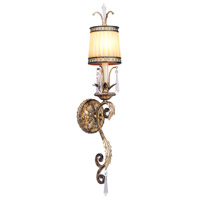 Livex Lighting La Bella 1 Light Wall Sconce in Vintage Gold Leaf 8811-65