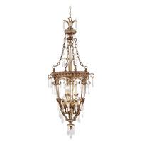 Livex 8816-65 La Bella 9 Light 24 inch Vintage Gold Leaf Foyer Pendant Ceiling Light