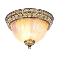 Livex Lighting La Bella 2 Light Ceiling Mount in Vintage Gold Leaf 8817-65