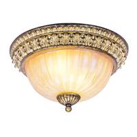 Livex 8818-65 La Bella 2 Light 13 inch Vintage Gold Leaf Ceiling Mount Ceiling Light
