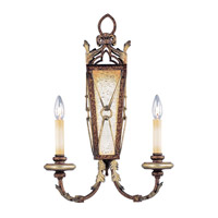 Livex Lighting Bristol Manor 2 Light Wall Sconce in Palacial Bronze with Gilded Accents 8822-64