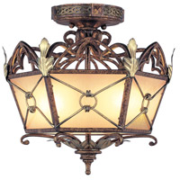 Livex Lighting Bristol Manor 2 Light Ceiling Mount in Palacial Bronze with Gilded Accents 8823-64