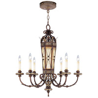 Livex Lighting Bristol Manor 6 Light Chandelier in Palacial Bronze with Gilded Accents 8826-64