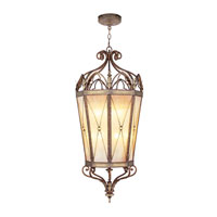 Livex Lighting Bristol Manor 12 Light Foyer Pendant in Palacial Bronze with Gilded Accents 8827-64