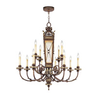 Livex Lighting Bristol Manor 12 Light Chandelier in Palacial Bronze with Gilded Accents 8829-64