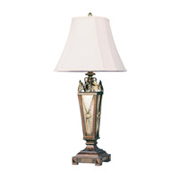 Livex Lighting Bristol Manor 1 Light Table Lamp in Palacial Bronze with Gilded Accents 8830-64 photo thumbnail