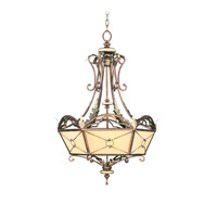 Livex Lighting Bristol Manor 6 Light Chandelier in Palacial Bronze with Gilded Accents 8831-64