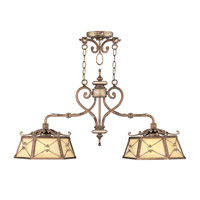 Livex Lighting Bristol Manor 2 Light Island Light in Palacial Bronze with Gilded Accents 8832-64