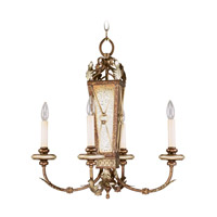 Livex Lighting Bristol Manor 4 Light Chandelier in Palacial Bronze with Gilded Accents 8834-64