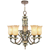Livex Lighting Bristol Manor 5 Light Chandelier in Palacial Bronze with Gilded Accents 8835-64