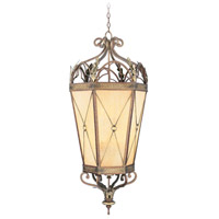 Livex Lighting Bristol Manor 6 Light Foyer Pendant in Palacial Bronze with Gilded Accents 8837-64