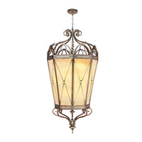 Livex Lighting Bristol Manor 16 Light Foyer Pendant in Palacial Bronze with Gilded Accents 8838-64