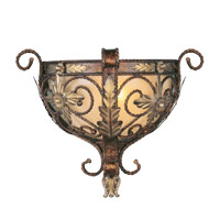 Livex Lighting Pomplano 1 Light Wall Sconce in Palacial Bronze with Gilded Accents 8841-64