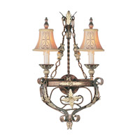 Livex Lighting Pomplano 2 Light Wall Sconce in Palacial Bronze with Gilded Accents 8842-64