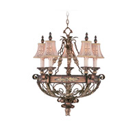 Livex 8845-64 Pomplano 5 Light 26 inch Palacial Bronze with Gilded Accents Chandelier Ceiling Light