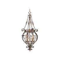 Livex Lighting Pomplano 4 Light Foyer Pendant in Palacial Bronze with Gilded Accents 8847-64