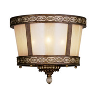 Livex Lighting Seville 3 Light Ceiling Mount in Palacial Bronze with Gilded Accents 8860-64