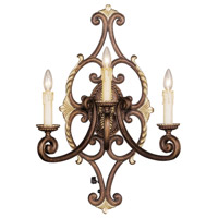 Livex Lighting Seville 3 Light Wall Sconce in Palacial Bronze with Gilded Accents 8863-64