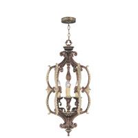 Livex Lighting Seville 6 Light Foyer Pendant in Palacial Bronze with Gilded Accents 8864-64