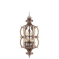 Livex Lighting Seville 9 Light Foyer Pendant in Palacial Bronze with Gilded Accents 8865-64