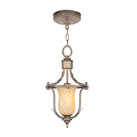 Livex Lighting Bristol Manor 1 Light Pendant/Ceiling Mount in Palacial Bronze with Gilded Accents 8870-64