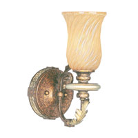 Livex Lighting Bristol Manor 1 Light Bath Light in Palacial Bronze with Gilded Accents 8871-64 photo thumbnail