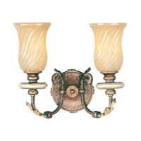 Livex Lighting Bristol Manor 2 Light Bath Light in Palacial Bronze with Gilded Accents 8872-64