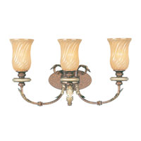 Livex Lighting Bristol Manor 3 Light Bath Light in Palacial Bronze with Gilded Accents 8873-64