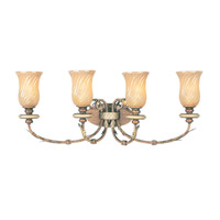 Livex Lighting Bristol Manor 4 Light Bath Light in Palacial Bronze with Gilded Accents 8874-64