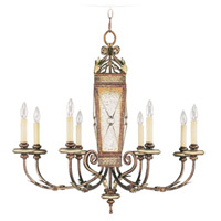 Livex Lighting Bristol Manor 8 Light Chandelier in Palacial Bronze with Gilded Accents 8878-64