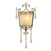 La Bella 1 Light 7 inch Vintage Gold Leaf ADA Wall Sconce Wall Light
