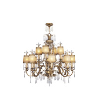 Livex 8888-65 La Bella 12 Light 38 inch Vintage Gold Leaf Chandelier Ceiling Light