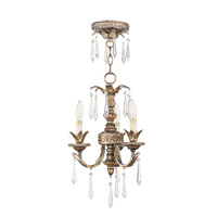 Livex Lighting La Bella 3 Light Mini Chandelier in Vintage Gold Leaf 8893-65 photo thumbnail