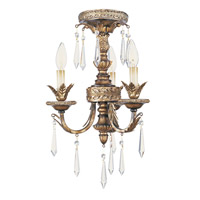 Livex Lighting La Bella 3 Light Mini Chandelier in Vintage Gold Leaf 8893-65 alternative photo thumbnail