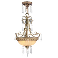 Livex La Bella 3 Light Inverted Pendant in Vintage Gold Leaf 8894-65 photo thumbnail