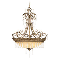 Livex Lighting La Bella 4 Light Inverted Pendant in Vintage Gold Leaf 8895-65