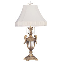 Livex Lighting La Bella 1 Light Table Lamp in Vintage Gold Leaf 8898-65