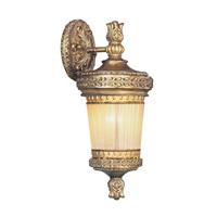 Livex Lighting La Bella 1 Light Outdoor Wall Lantern in Vintage Gold Leaf 8901-65