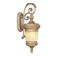 Livex Lighting La Bella 1 Light Outdoor Wall Lantern in Vintage Gold Leaf 8902-65