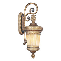 Livex Lighting La Bella 1 Light Outdoor Wall Lantern in Vintage Gold Leaf 8903-65