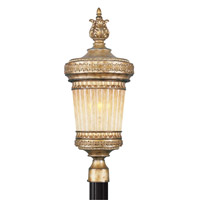 Livex Lighting La Bella 1 Light Outdoor Post Head in Vintage Gold Leaf 8904-65