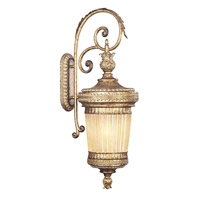 Livex Lighting La Bella 1 Light Outdoor Wall Lantern in Vintage Gold Leaf 8906-65