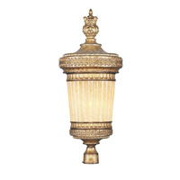Livex 8907-65 La Bella 1 Light 33 inch Vintage Gold Leaf Outdoor Post Head