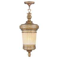 Livex Lighting La Bella 1 Light Outdoor Hanging Lantern in Vintage Gold Leaf 8908-65