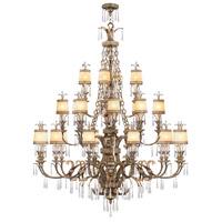 Livex 8910-65 La Bella 24 Light 60 inch Vintage Gold Leaf Chandelier Ceiling Light