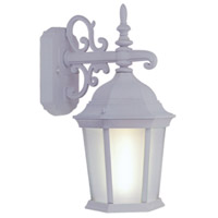 Livex Limited 1 Light Outdoor Wall Lantern in White 9023-03