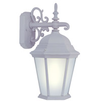 Livex Limited 1 Light Outdoor Wall Lantern in White 9025-03