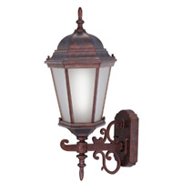 Livex Limited 1 Light Outdoor Wall Lantern in Weathered Brick 9026-18